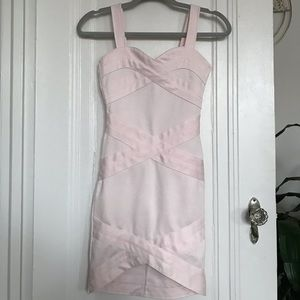 H&M Bodycon Bandage Dress In Light Pink